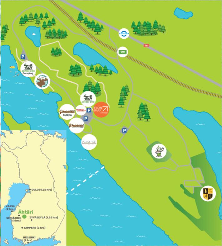 Flowpark Ähtäri Zoo aluekartta